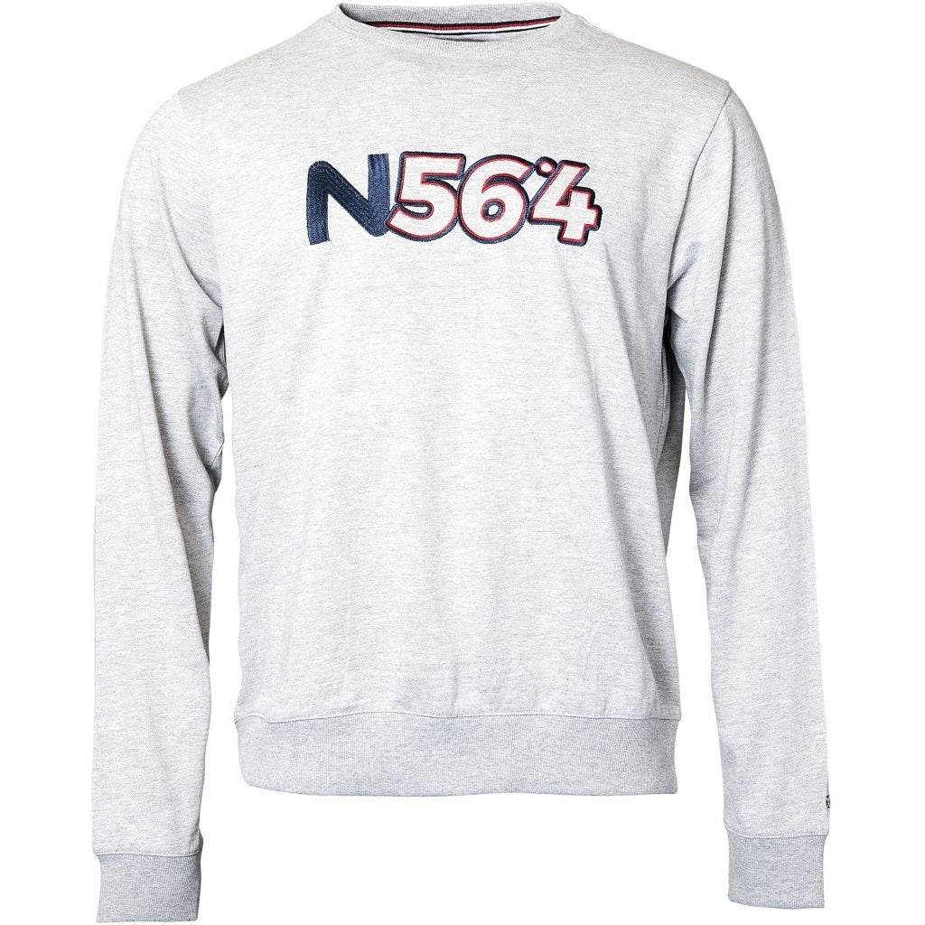 North 56°4 / Replika Jeans (Regular) North 56°4 Crew-neck sweat Sweatshirt 0050 Grey Melange