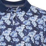 North 56°4 / Replika Jeans (Big & Tall) North 56°4 Flower printed polo T-shirt 0930 Printed