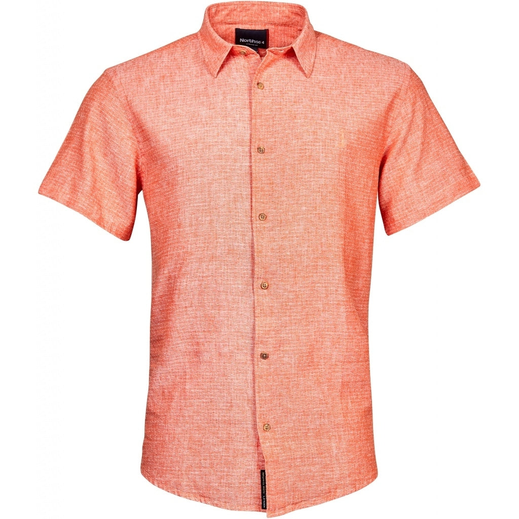 North 56°4 / Replika Jeans (Big & Tall) North 56°4 Linen shirt S3 Shirt SS 0200 Orange