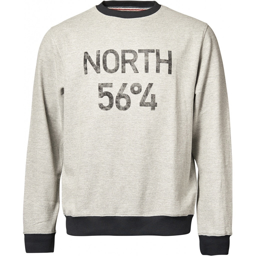 North 56°4 / Replika Jeans (Regular) North 56°4 Ottoman sweat Sweatshirt 0050 Grey Melange