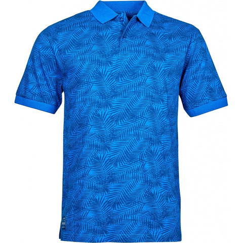 North 56°4 / Replika Jeans (Big & Tall) North 56°4 Polo allover print T-shirt 0540 Mid Blue