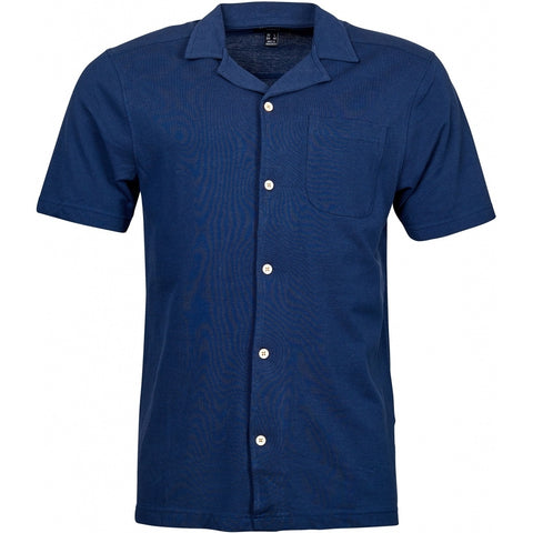 North 56°4 / Replika Jeans (Big & Tall) North 56°4 Polo shirt in light pique T-shirt 0580 Navy Blue