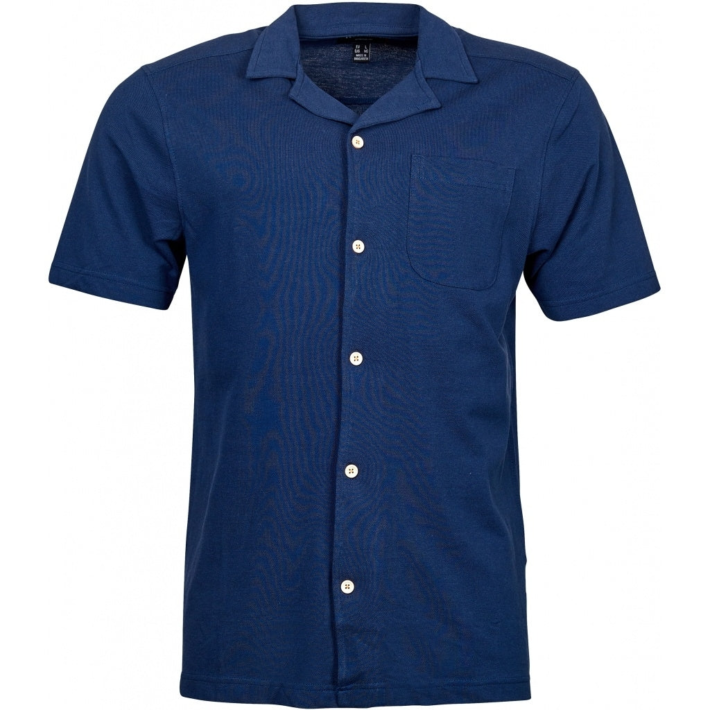 North 56°4 / Replika Jeans (Big & Tall) North 56°4 Polo shirt in light pique TALL T-shirt 0580 Navy Blue
