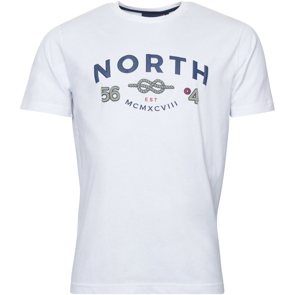 North 56°4 / Replika Jeans (Big & Tall) North 56°4 Printed T-shirt T-shirt 0000 White