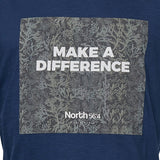 North 56°4 / Replika Jeans (Big & Tall) North 56°4 Printed sustainable tee T-shirt 0580 Navy Blue