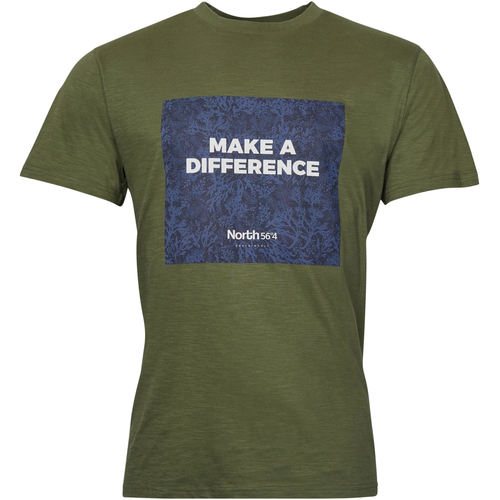 North 56°4 / Replika Jeans (Big & Tall) North 56°4 Printed sustainable tee T-shirt 0660 Olive Green