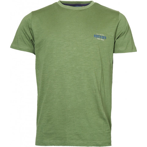 North 56°4 / Replika Jeans (Regular) North 56°4  Printed t-shirt T-shirt 0660 Olive Green