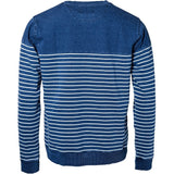 North 56°4 / Replika Jeans (Big & Tall) North 56°4 Striped indigo sweat Sweatshirt 0910 Striped