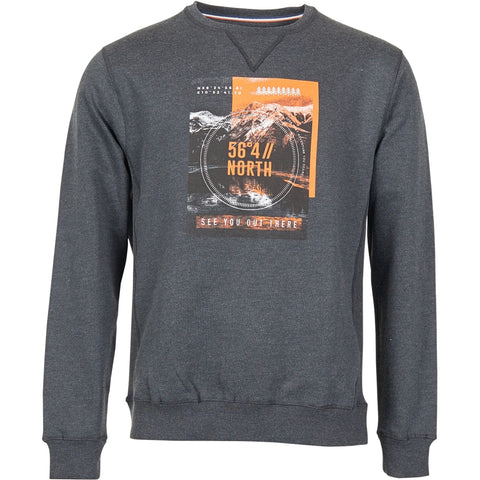 North 56°4 / Replika Jeans (Regular) North 56°4 Sweat Sweatshirt 0090 Dark Grey Melange