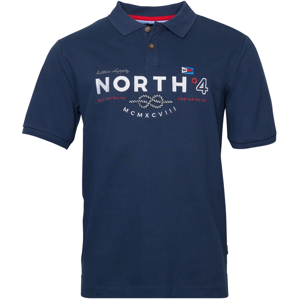 North 56°4 / Replika Jeans (Big & Tall) North 56°4 Polo w/big embrodery T-shirt 0580 Navy Blue
