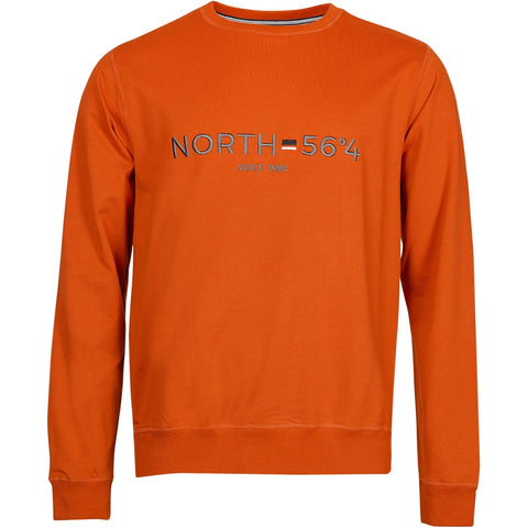 North 56°4 / Replika Jeans (Big & Tall) North 56°4 Sweatshirt w/embroidery Sweatshirt 0201 Terracotta/burned orange