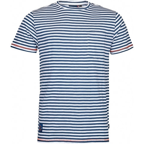 North 56°4 / Replika Jeans (Big & Tall) North 56°4 Striped t-shirt w/chest pocket T-shirt 0580 Navy Blue
