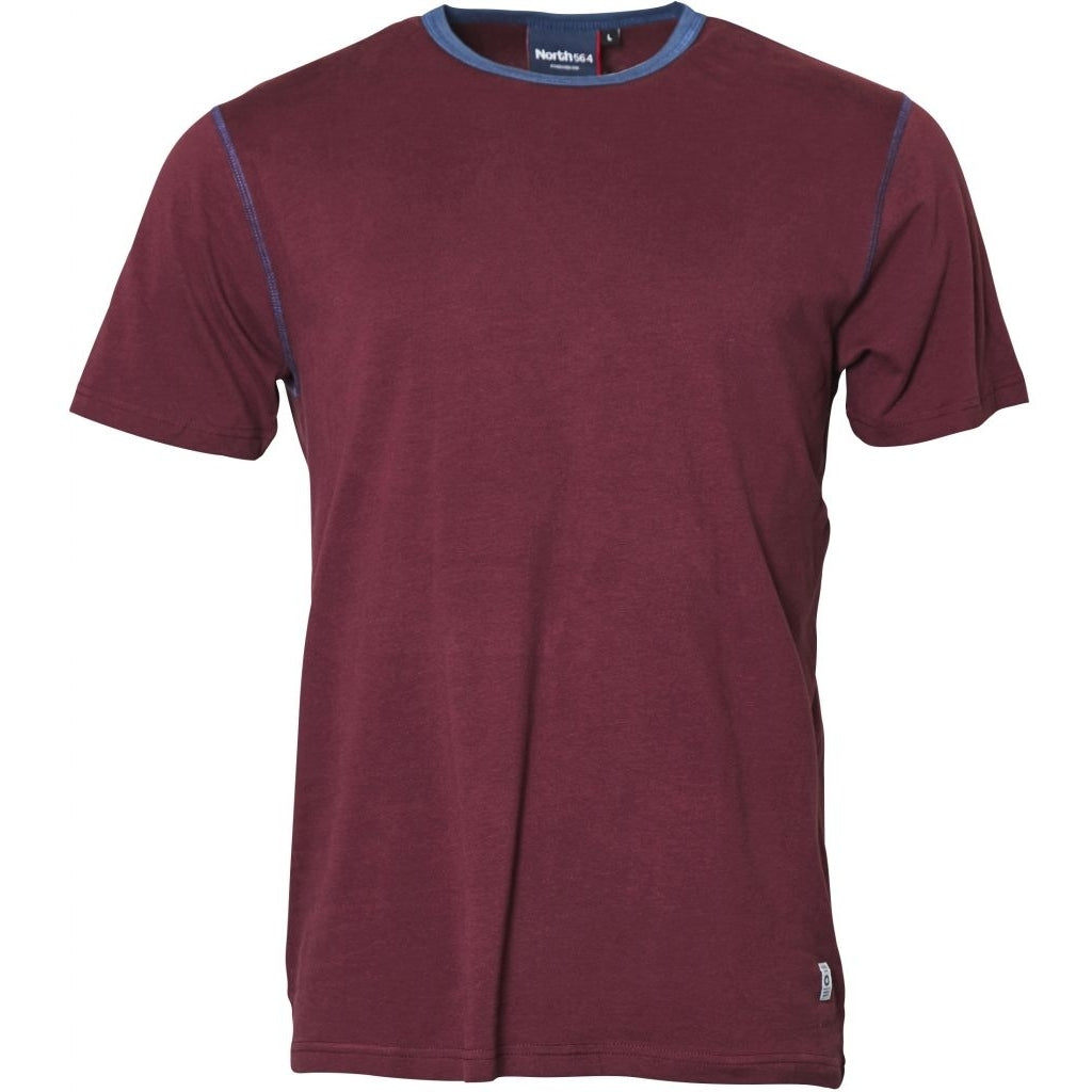North 56°4 / Replika Jeans (Regular) North 56°4 T-shirt w/contrast T-shirt 0380 Bordeaux