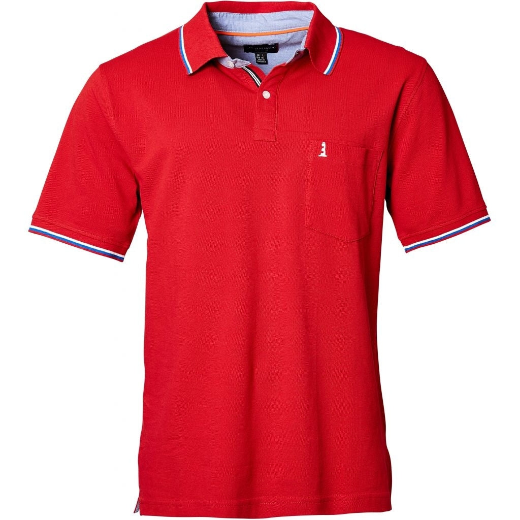 North 56°4 / Replika Jeans (Regular) North 56°4 Polo w/contrast collar T-shirt 0300 Red