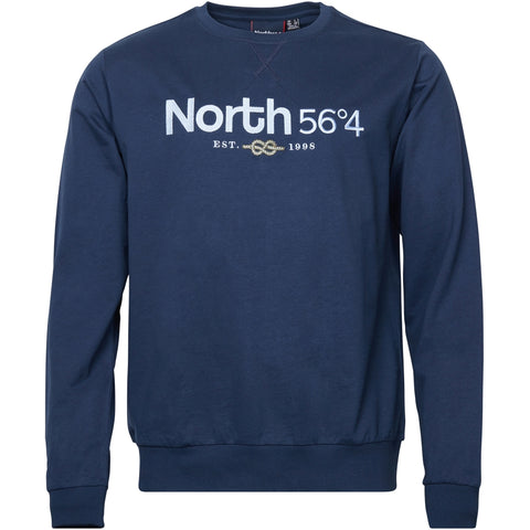 North 56°4 / Replika Jeans (Big & Tall) North 56°4 Sweatshirt w/ embrodery Sweatshirt 0580 Navy Blue