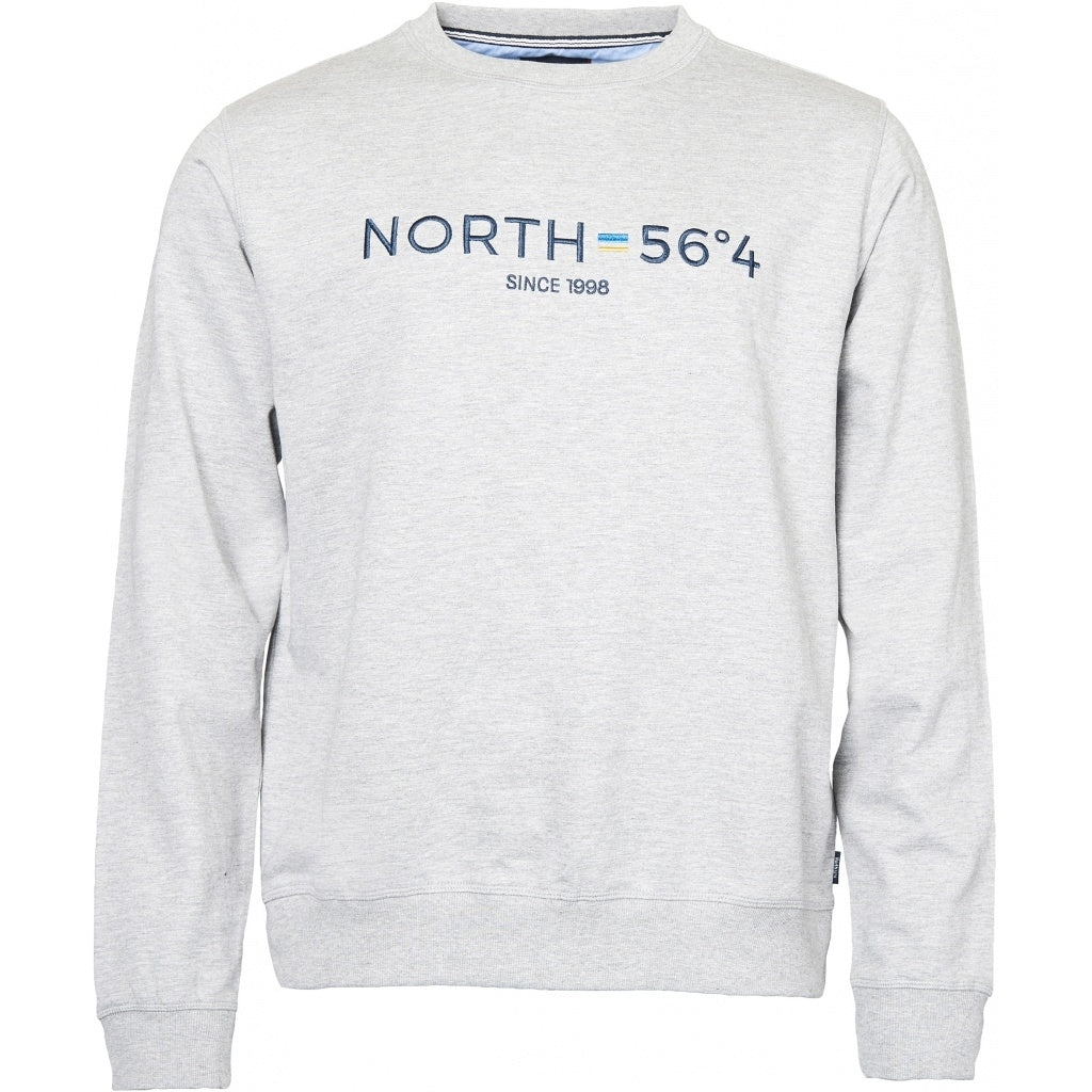 North 56°4 / Replika Jeans (Regular) North 56°4 Sweatshirt w/embroidery Sweatshirt 0050 Grey Melange