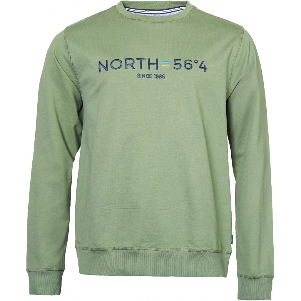 North 56°4 / Replika Jeans (Regular) North 56°4 Sweatshirt w/embroidery Sweatshirt 0660 Olive Green