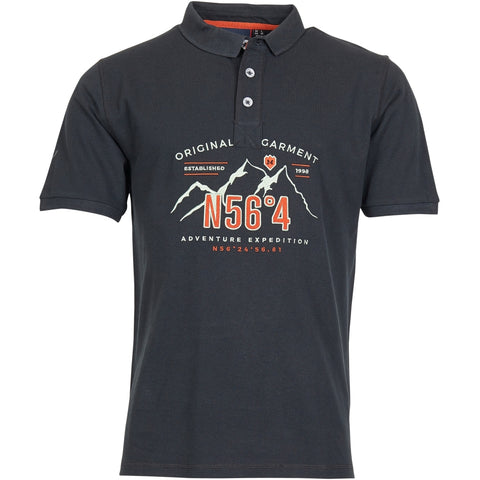 North 56°4 / Replika Jeans (Regular) North 56°4 Polo w/embroidery T-shirt 0099 Black