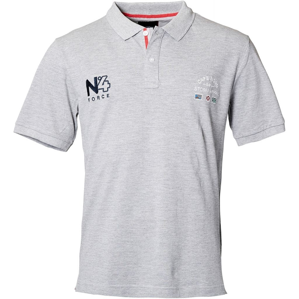 North 56°4 / Replika Jeans (Regular) North 56°4 Polo w/embroidery T-shirt 0050 Grey Melange