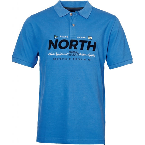 North 56°4 / Replika Jeans (Big & Tall) North 56°4  Polo w/print and embroidery T-shirt 0540 Mid Blue
