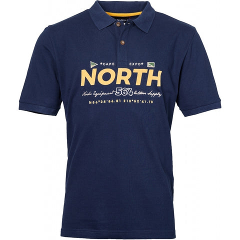 North 56°4 / Replika Jeans (Big & Tall) North 56°4  Polo w/print and embroidery T-shirt 0580 Navy Blue