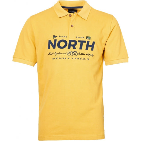 North 56°4 / Replika Jeans (Big & Tall) North 56°4  Polo w/print and embroidery T-shirt 0751 Corn
