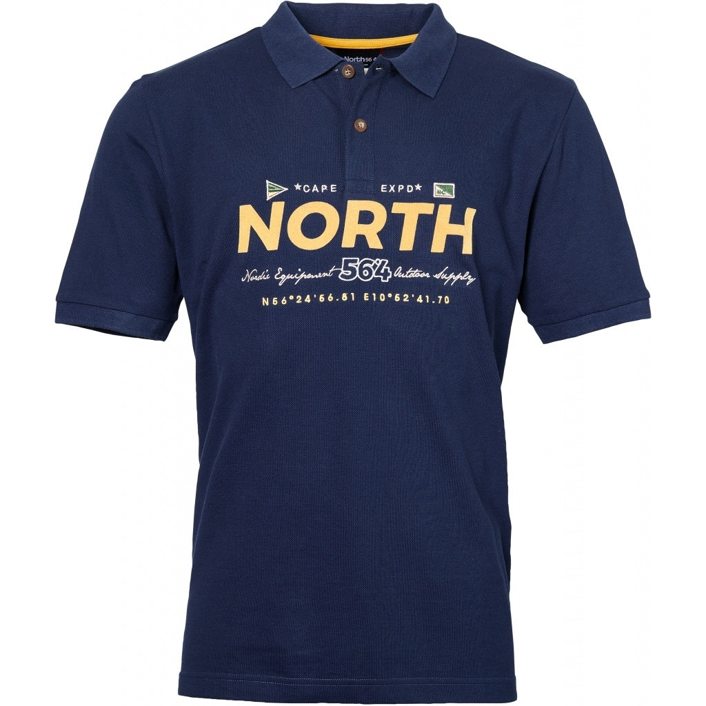 North 56°4 / Replika Jeans (Regular) North 56°4  Polo w/print and embroidery T-shirt 0580 Navy Blue