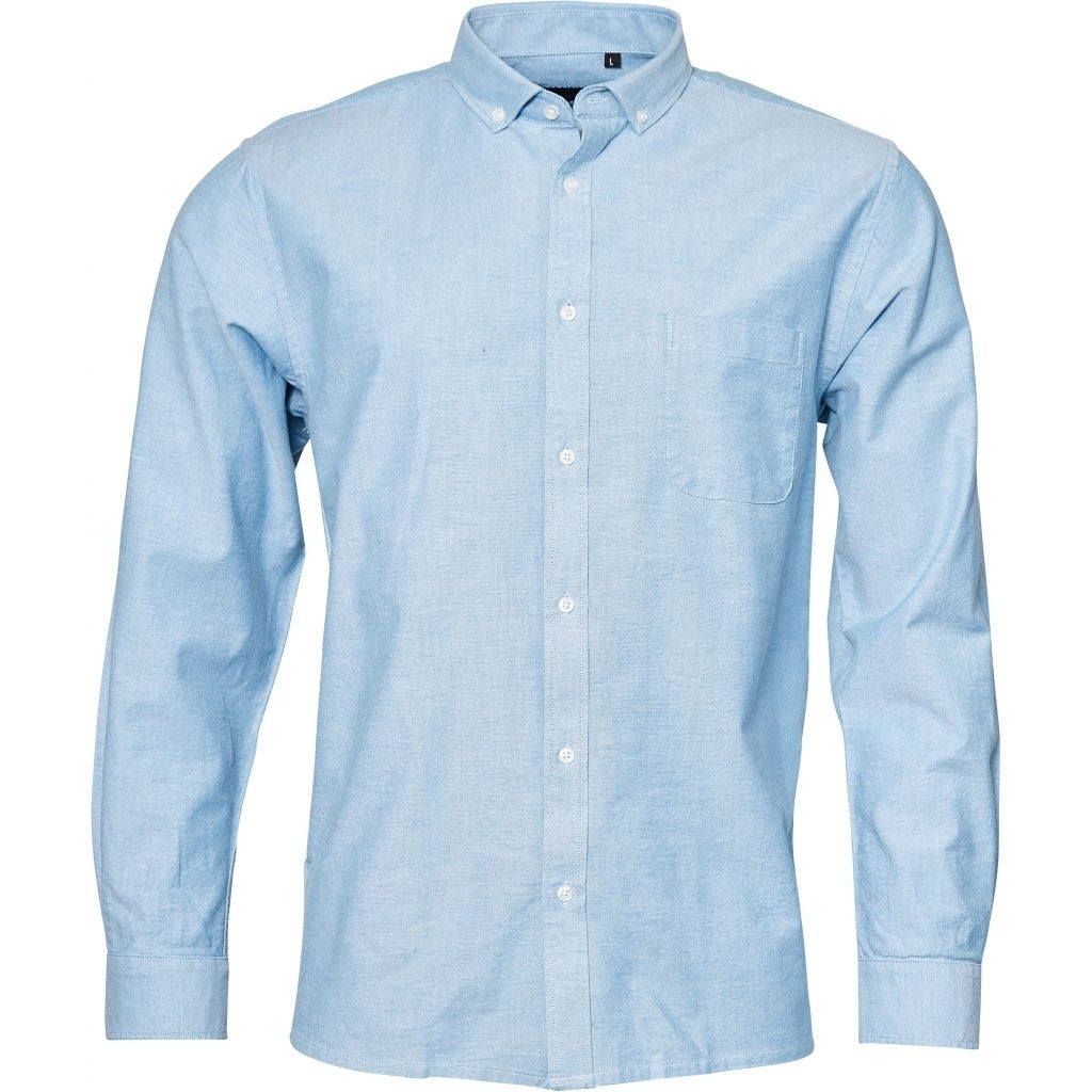 North 56°4 / Replika Jeans (Big & Tall) North 56°4 Oxford shirt w/stretch Shirt LS 0520 Light Blue