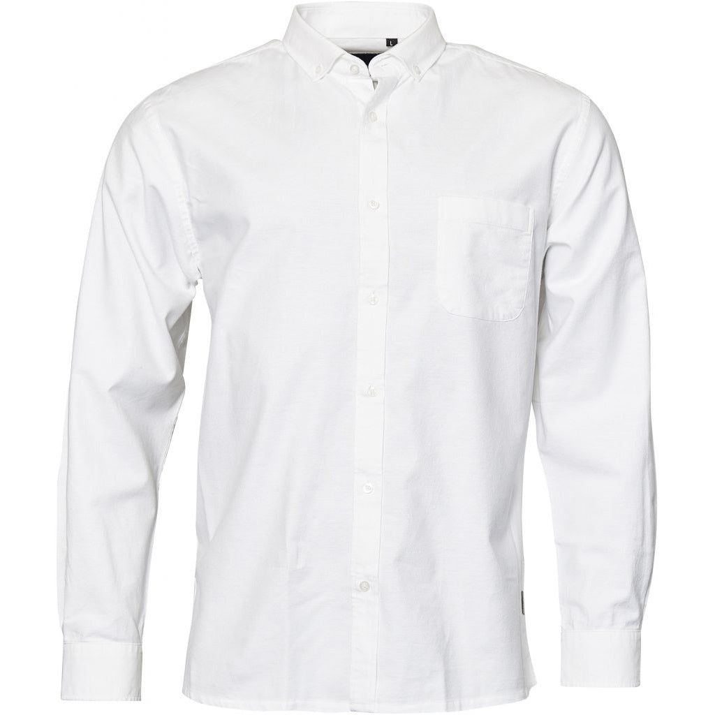North 56°4 / Replika Jeans (Regular) North 56°4 Oxford shirt w/stretch Shirt LS 0000 White