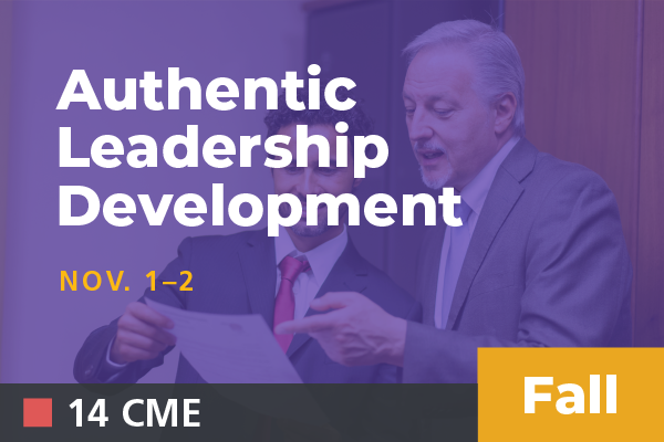 2019 Fall Authentic Leadership Development