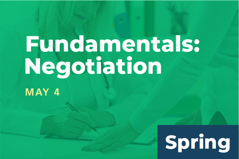 2019 Spring Summit Fundamentals of Physician Leadership: Negotiation