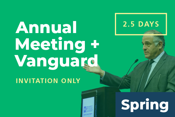 2020 Spring Conference - Annual Meeting: Attend 2.5 Days (includes Vanguard Meeting)