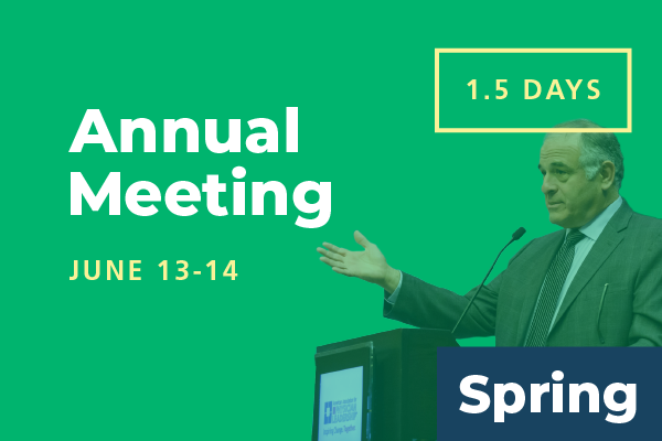 Unavailable - 2020 Spring Conference - Annual Meeting: Attend 1.5 Days