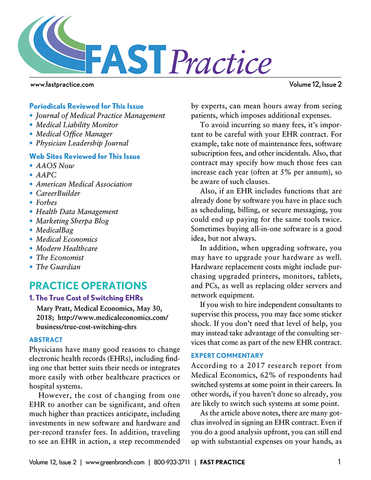 FAST Practice Newsletter - Annual Subscription (12 issues)