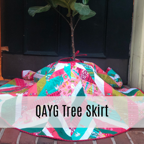 "Quilt As You Go ""QAYG"" Tree Skirt"