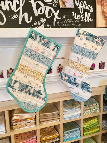 Quilt As You Go (QAYG) Stockings