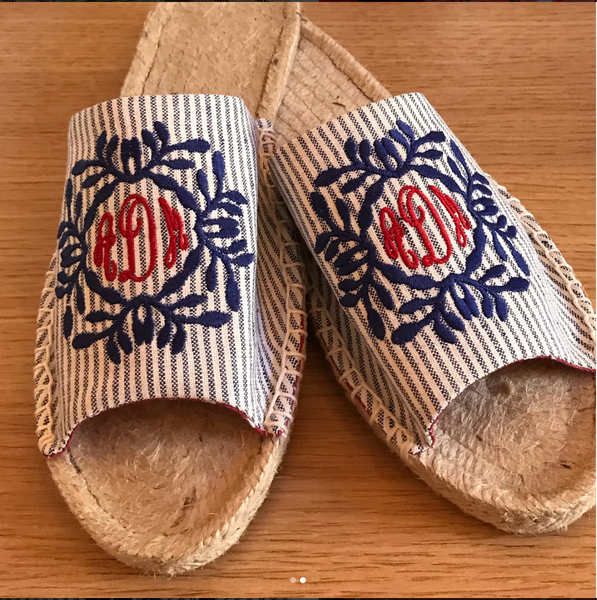 Embroidery Workshop: Espadrilles - kit included!!
