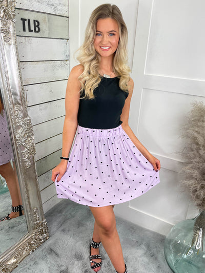 Pretty in Polka Skirt