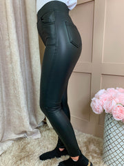 Lucia Leather Look Leggings