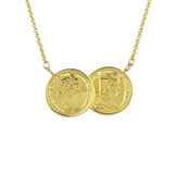 The ICOINIC Two Coin Necklace - Gold