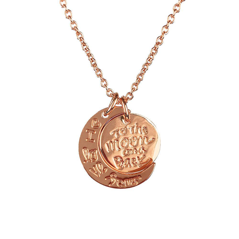 I Love You To The Moon And Back Necklace - Rose Gold