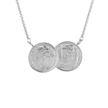 The ICOINIC Two Coin Necklace - Silver