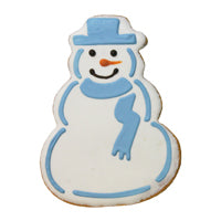 Blue Scarf Snowman Cookie (12 cookies)