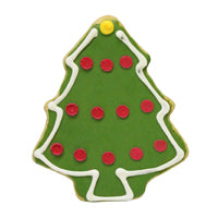 Christmas Tree with Dots Cookie (12 cookies)