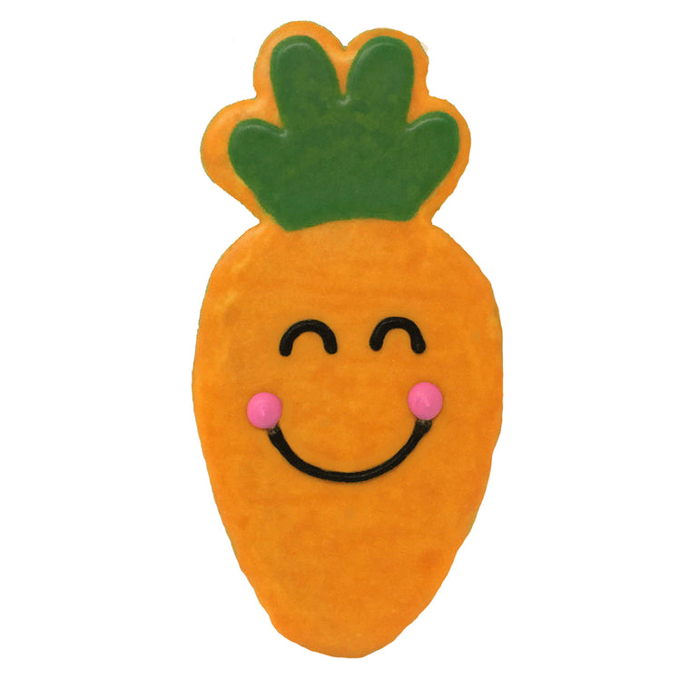 Smiling Carrot Easter Cookie
