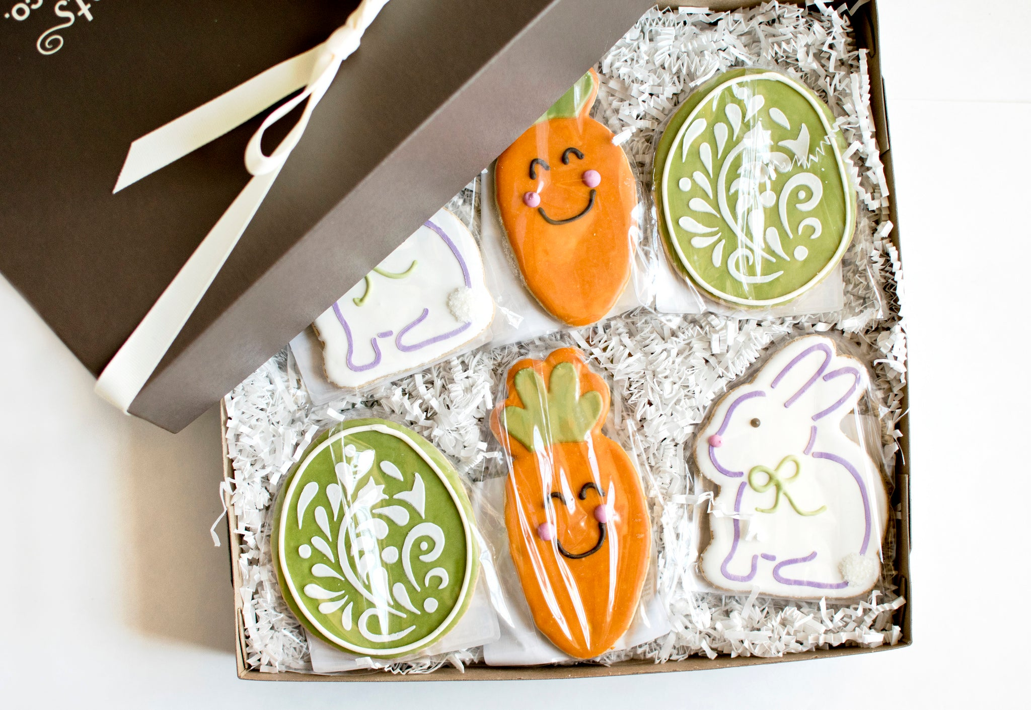 Easter bunny cookie gift box nut free fun and delicious easter cookie gift box bunny carrot egg negle Images