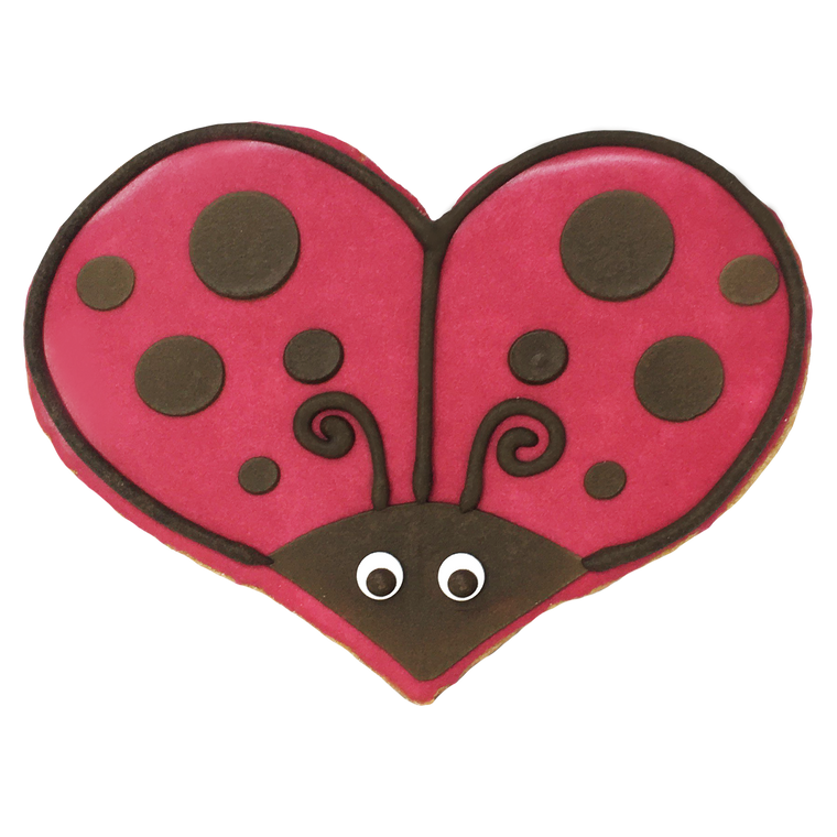 Love Bug Valentine's Day Cookie