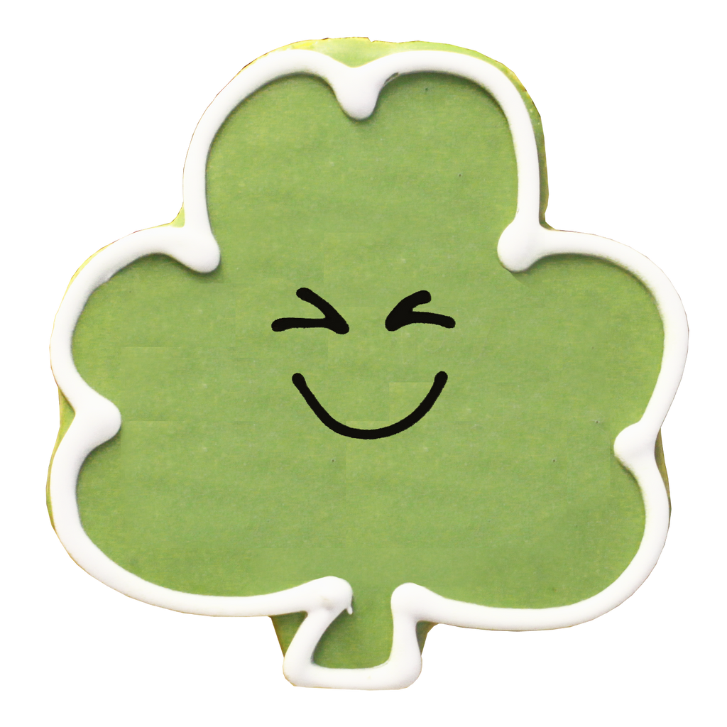 Smiling Shamrock (12 Cookies)