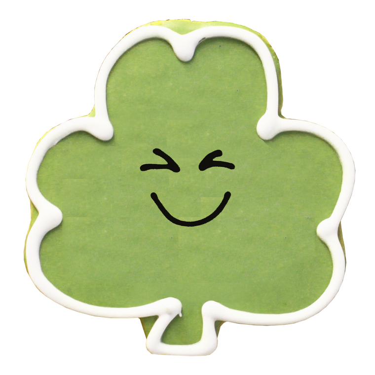 Smiling Shamrock Cookie