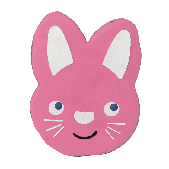 Easter Bunny Cookie - Pink